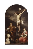 Crucifixion with Mary Magdalene, St. Eusebius and St. Philip Neri Posters by Pierre Subleyras