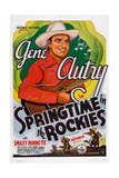 Springtime in the Rockies, Gene Autry, 1937 Prints