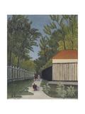 View of Monsouris Park Plakat af Henri Rousseau