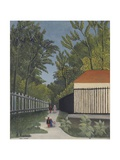 View of Monsouris Park Print by Henri Rousseau