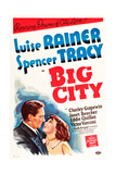 Big City, from Left: Spencer Tracy, Luise Rainer, 1937 Prints