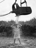 U.S. Marine Officer Enjoys an Early Morning Shower at Cape Gloucester on New Britain Photo