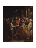 The Cenacle, Jesus and Apostles at the Table of the Last Supper, 1630-32 Print by Peter Paul Rubens