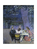 Evening in Trieste (People Having Coffee in a Garden) Posters by Pietro Marussig