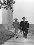 President Harry Truman and Secret Service Men on a Walk Near the White House in 1946 Photo