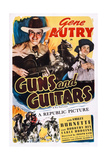 Guns and Guitars, Top from Left: Gene Autry, Smiley Burnette, 1936 Prints