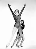 Torch Song, Joan Crawford, Wioth a Giant Hilarious Cutout of Herself, 1953 Photo