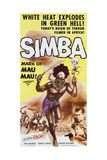Simba, (Aka Simba-Mark of Mau Mau!), Bottom L-R: Dirk Bogarde, Virginia Mckenna, 1955 Poster