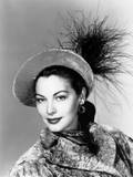 Ava Gardner, Modeling a Gray Velvet Hat Trimmed with Goose Feathers, 1946 Prints