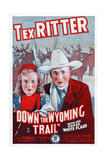 Down the Wyoming Trail, L-R: Mary Brodel, Tex Ritter, 1939 Posters