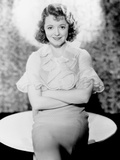 Adorable, Janet Gaynor, in a Dress by Rita Kaufman, 1933 Photo