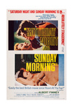 Saturday Night and Sunday Morning, Top and Bottom Inserts: Albert Finney, 1960 Prints