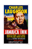 Jamaica Inn, from Front Left: Maureen O'Hara, Robert Newton, Charles Laughton, 1939 Print
