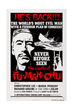 The Castle of Fu Manchu, (Aka Sax Rohmer's the Castle of Fu Manchu), Left: Christopher Lee, 1969 Poster
