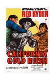 California Gold Rush, Center: Bill Elliott; Right: Robert Blake, 1946 Posters