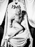Fox Starlet June Haver, Wishing Her Fans a Happy 1946 Photo