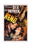 Reno, from Left: Richard Dix, Gail Patrick,1939 Poster