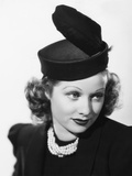 Beauty for the Asking, Lucille Ball, Modeling a Black Felt Pillbox Hat with Feather, 1939 Photo