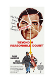 Beyond a Reasonable Doubt, Top: Dana Andrews; Bottom: Dana Andrews, Joan Fontaine, 1956 Art