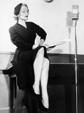 Marlene Dietrich, Rehearsing for Her Radio Show Cafe Istanbul, New York, December 1951 Photo