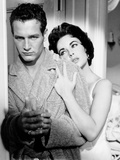 Cat on a Hot Tin Roof, from Left, Paul Newman, Elizabeth Taylor, 1958 - Photo