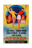 Athena, from Left: Edmund Purdom, Jane Powell, Debbie Reynolds, Vic Damone, 1954 Plakater