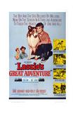 Lassie's Great Adventure, from Left: June Lockhart, Hugh Reilly, Lassie, Jon Provost, 1963 Plakat
