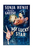 My Lucky Star, Top from Left, Sonja Henie, Richard Greene; Bottom Left: Sonja Henie, 1938 Prints