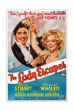 The Lady Escapes, from Left: Michael Whalen, Gloria Stuart, 1937 Plakater