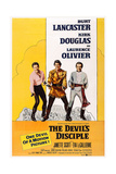 The Devil's Disciple, from Left: Kirk Douglas, Burt Lancaster, Laurence Olivier, 1959 Art