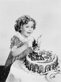 Shirley Temple, Celebrating Her Eighth Birthday, April 1936 Photo