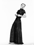 The Barkleys of Broadway, Ginger Rogers in Dinner Gown Designed by Irene, 1949 Photo