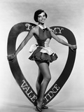 Leslie Caron, Mgm Valentine's Day Pin-Up, Early 1950s Photo