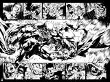 Green Lantern: Evil Batman Comic Panel (Black and White) Posters