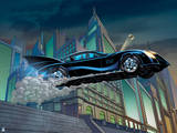 Batman: Batman in the Batmobile, Jumping a Flight of Stairs Posters