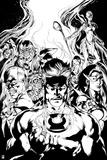 Green Lantern: Blackest Night No. 4 Cover (Black and White) Prints