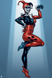 Batman: Harley Quinn Standing Smiling with One Hand at Her Hip and the Other Bent in Front of Her Posters