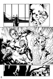 Green Lantern: Green Lantern and Flash (Black and White) Posters