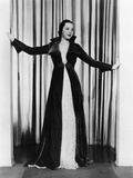Sylvia Sidney in Ruby Velvet Wrap over White Orggandy Evening Gown, 1935 Photo
