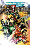 """Justice League: """"Brightest Day"""" Green Lantern, Aquaman, Flash, and Other Heroes in Action Pose Prints"""