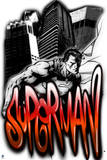 Superman: Superman in Spray Paint and Graffiti Style Poster