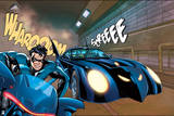 Batman: Batman in the Batmobile Stopping Suddenly Posters