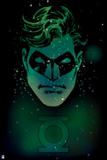 Green Lantern: Green Lantern with Space Background Print