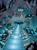 Batman: View Inside the Batcave of Where All Batman's Cars are Stored Poster