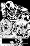 Green Lantern: Black Hand with Skull (Black and White) Poster