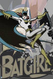 Batman: Batgirl in Pop Art Style Jumping with Cape Flowing Behind Her Posters