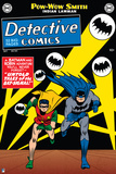 Batman: Cover Batman and Robin Running with Bat Signals Behind Them Posters