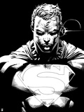 Superman: Superman Laser Vision (Black and White) Prints
