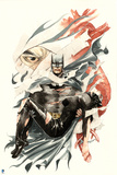 Batman: Watercolor Batman Holding Unconscious Catwoman Posters