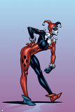 Batman: Harley Quinn Side View of Her Leaning Forward Photo